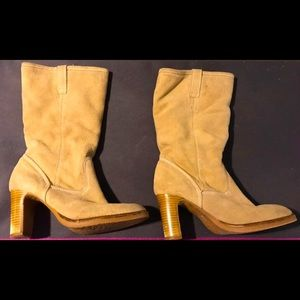 4/$10 Faux Suede Heeled Boots